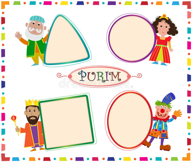 Purim znaki royalty ilustracja