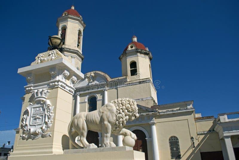 Purisima Concepción Cathedral, Cienfuegos, Cuba stock foto's