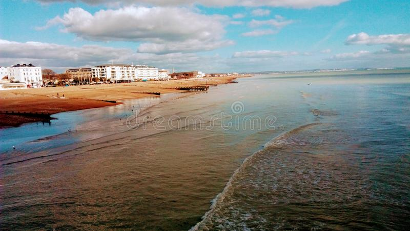 Purity of the sea royalty free stock photos