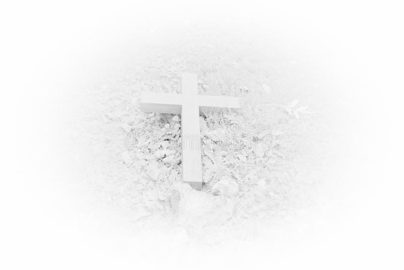 White cross. royalty free stock images
