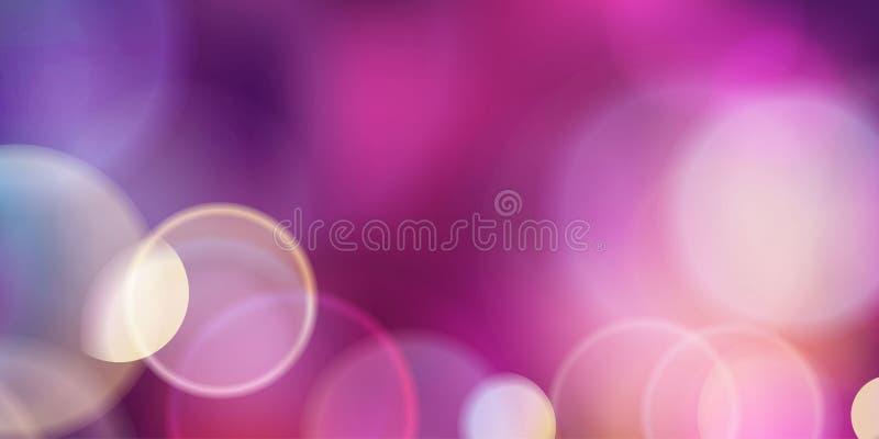 Purlle magia zaświeca tło ilustracji
