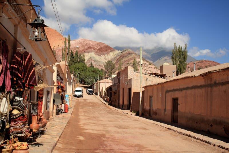 purmamarca της Αργεντινής στοκ εικόνα με δικαίωμα ελεύθερης χρήσης