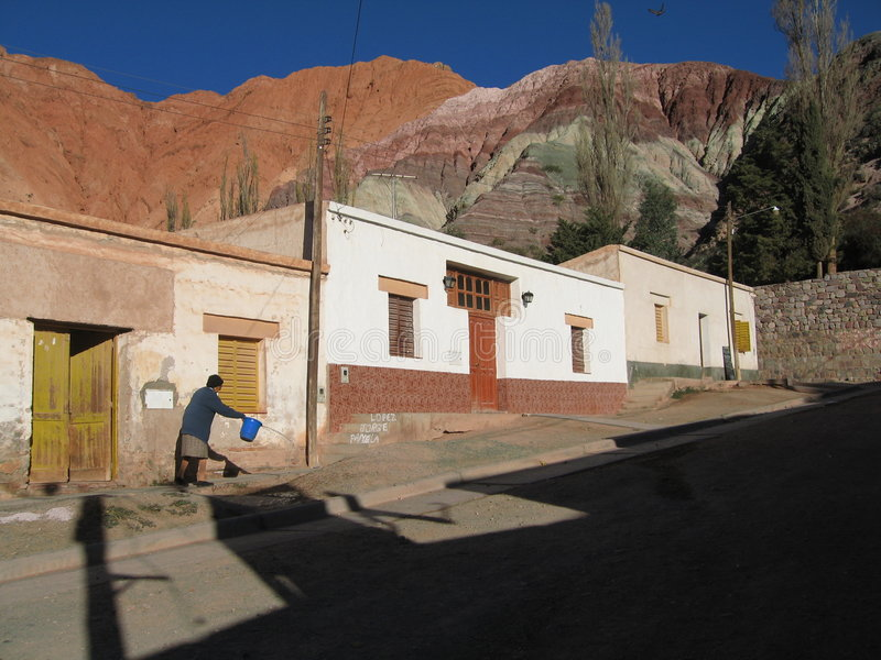 Purmamarca, Argentinien stockfoto