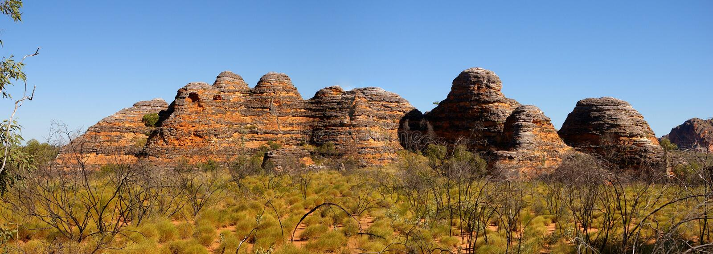 Purnululu-Nationalpark, Australië stock afbeelding