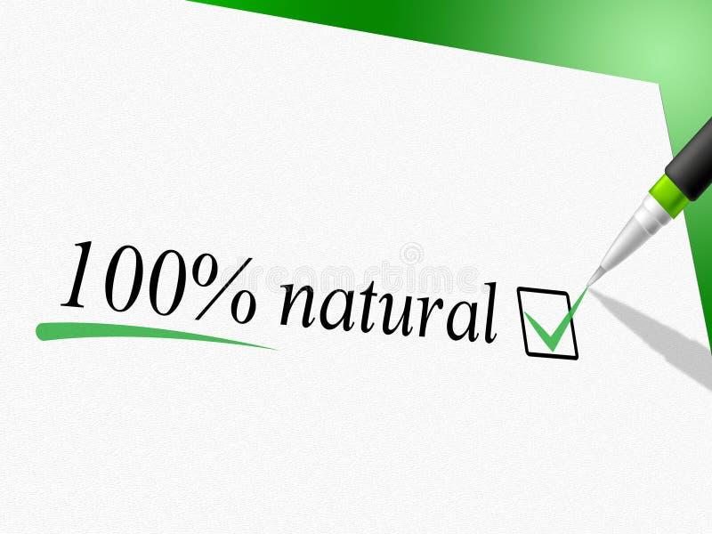 Puro absoluto e natureza dos meios naturais de cem por cento ilustração royalty free