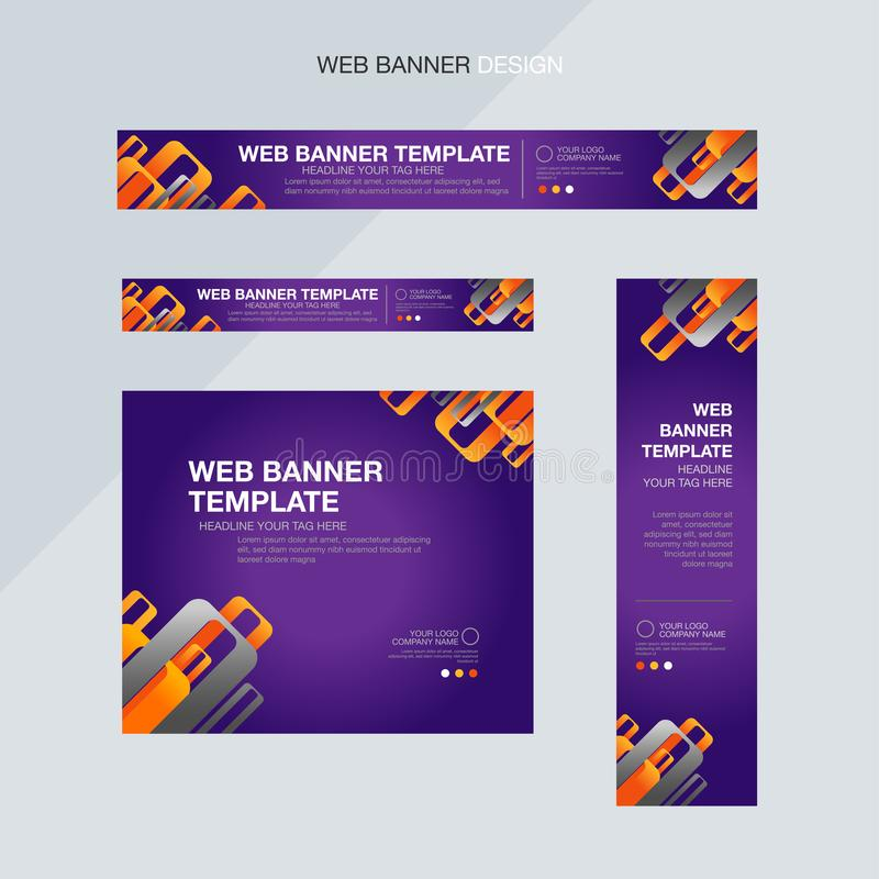 Purper abstract banner grafisch malplaatje vector illustratie