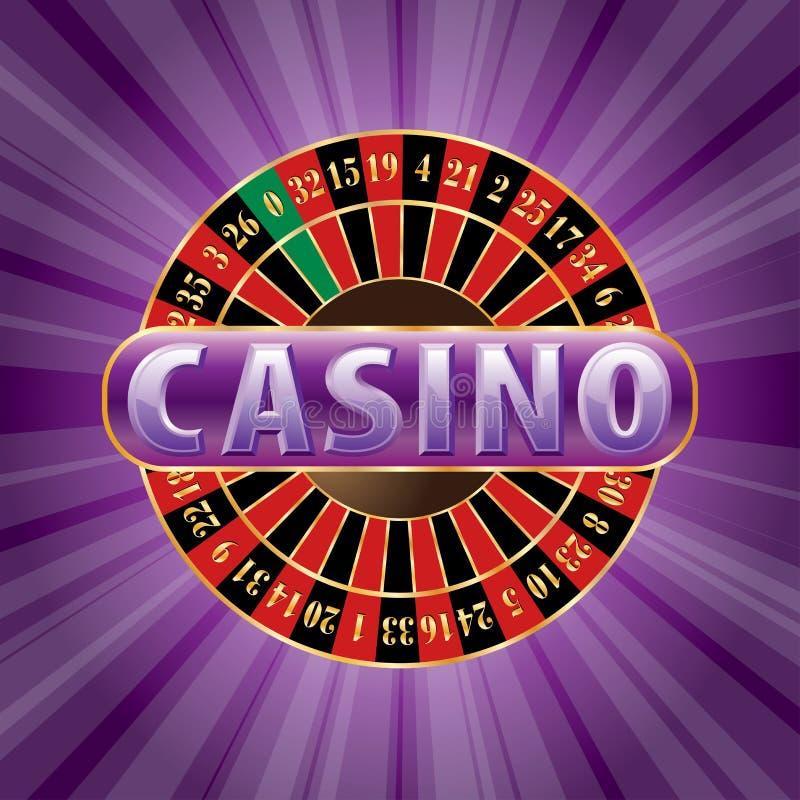 Purper casino vector illustratie