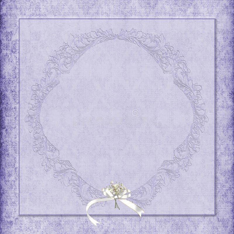 Download Purper Damastkader Met Boeket Stock Illustratie - Illustratie bestaande uit lavendel, luim: 39100774