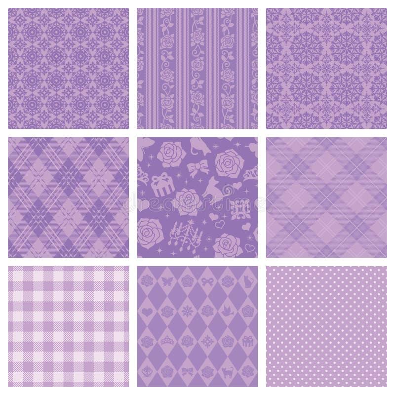 Purper decoratief patroon. vector illustratie