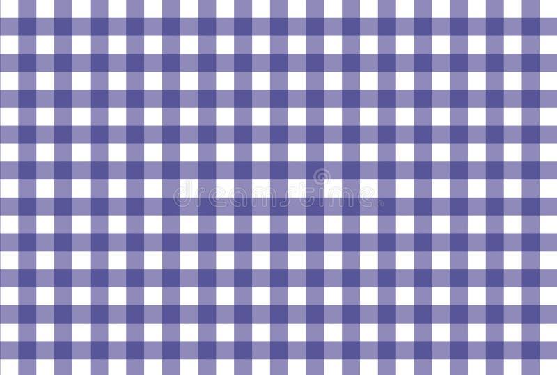 Purper en wit geruit patroon stock foto