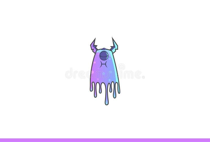 Purper Geërgerd Monster stock illustratie