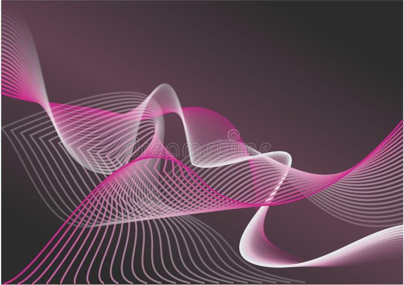 Purper golven vectorachtergrond/behang stock fotografie