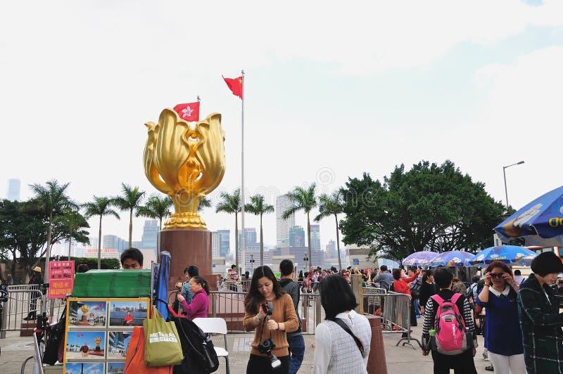 Purper Gouden Bloemvierkant royalty-vrije stock afbeeldingen