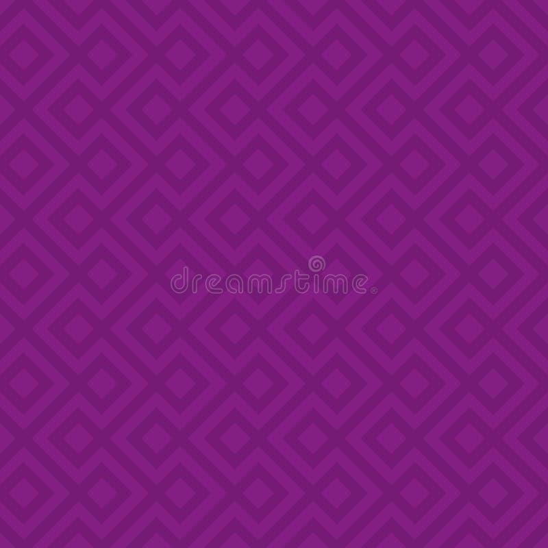Purper Lineair Geweven Naadloos Patroon vector illustratie