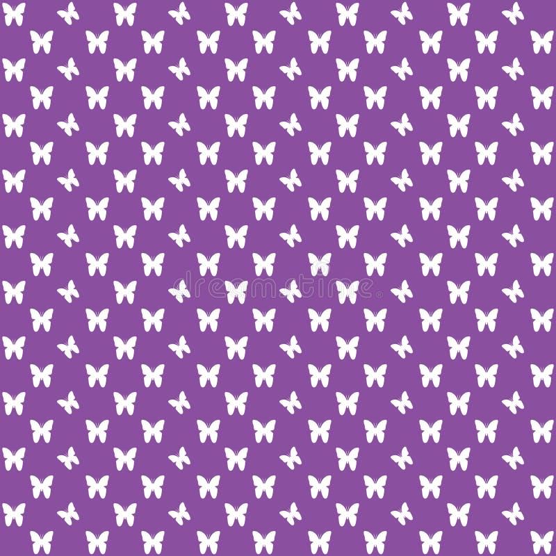 Purper naadloos vlinderpatroon, vlinders vectorachtergrond royalty-vrije stock afbeeldingen