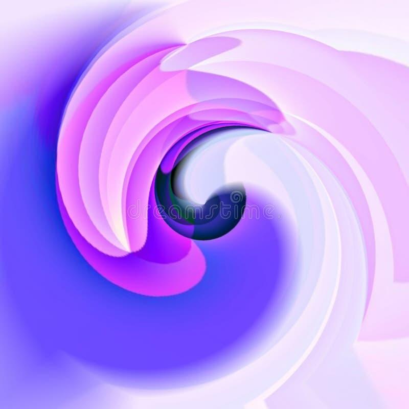 Purper roze wit whorl patroon vector illustratie