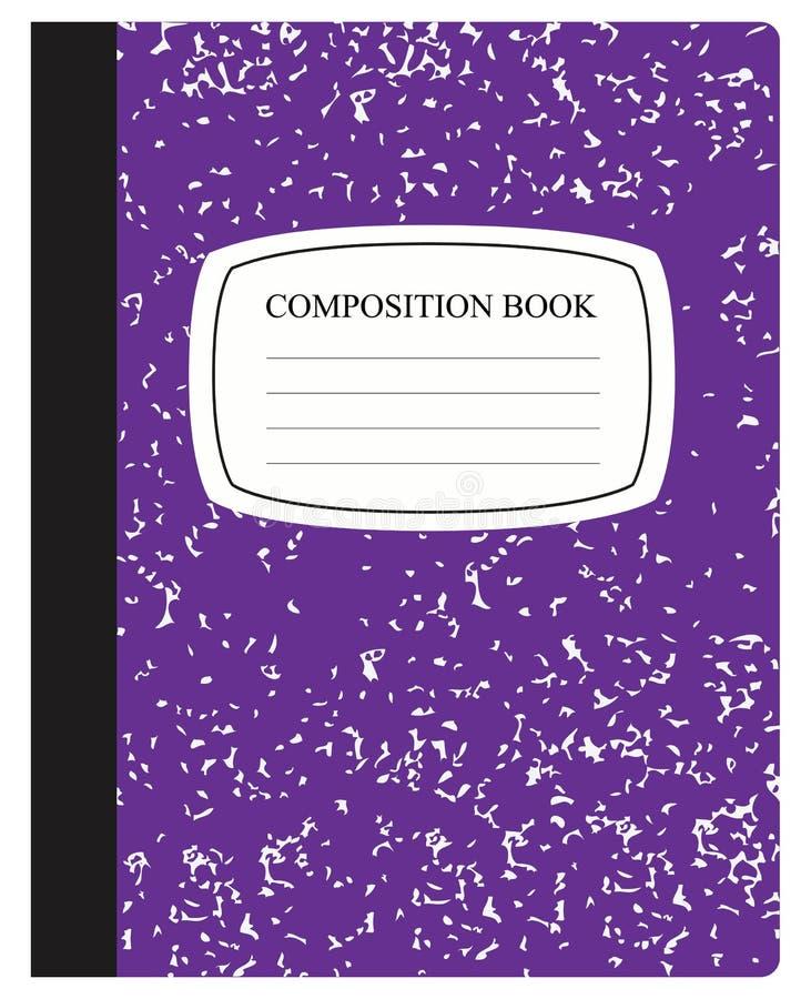 Purper Samenstellingsboek vector illustratie