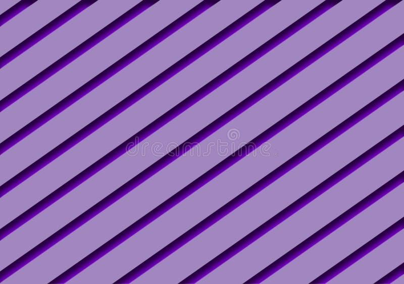 Purper schaduwen diagonaal gestreept ontwerp als achtergrond royalty-vrije illustratie