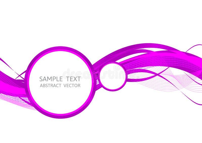 Purper van de lijngolf abstract vector Grafisch Ontwerp als achtergrond royalty-vrije illustratie