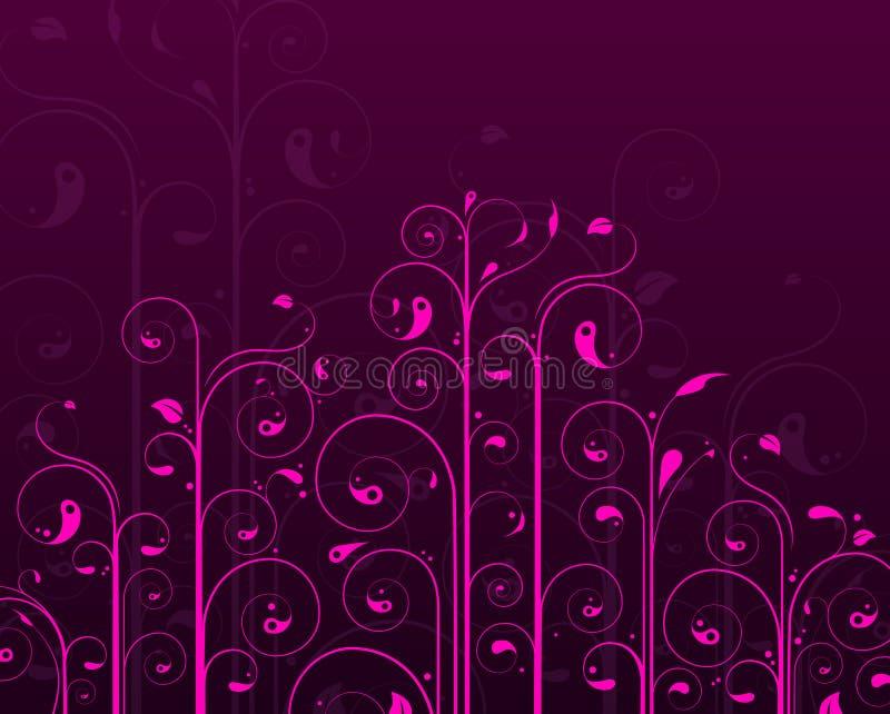 Purper wijnstokontwerp stock illustratie