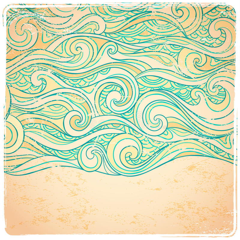 Purpere abstracte golvenachtergrond stock illustratie