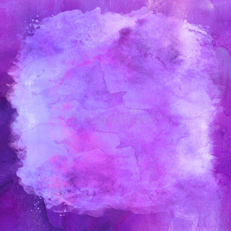 Purpere Blauwe Violet Watercolor Paper Background Texture royalty-vrije stock afbeeldingen