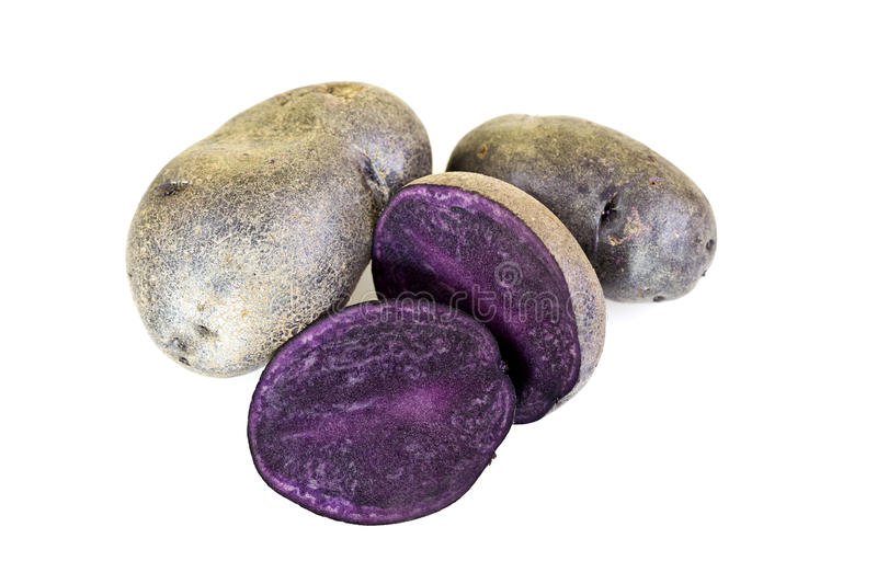 Purpere Bliss Potatoes stock afbeelding