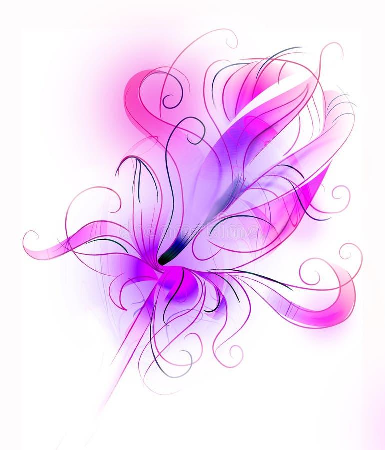 Purpere bloem over witte achtergrond stock fotografie