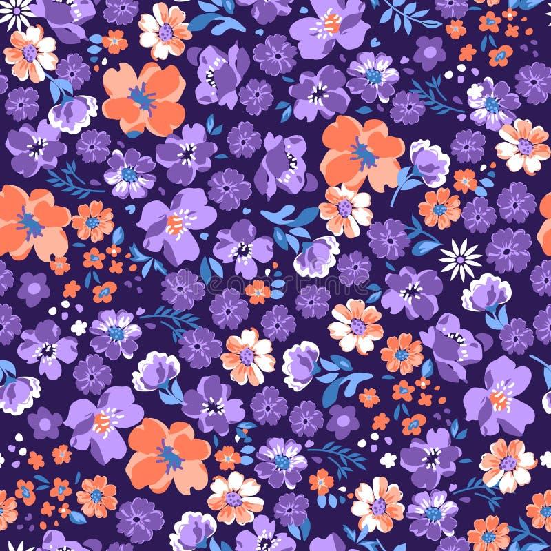 Purpere bloemenachtergrond vector illustratie