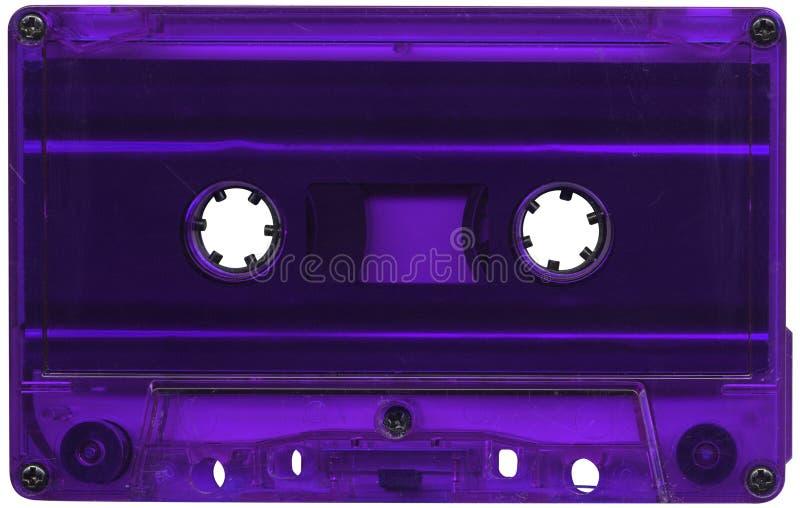 Purpere cassetteband royalty-vrije stock afbeelding