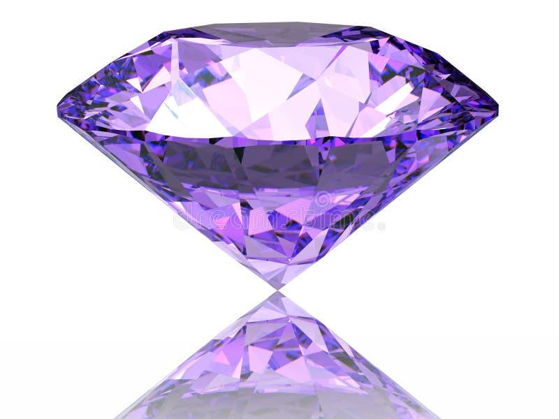 Purpere diamant stock illustratie