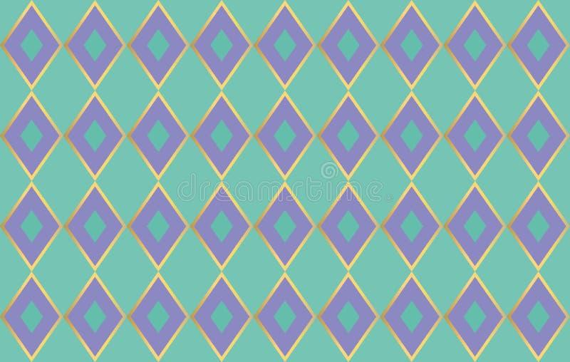 Purpere diamanten op munt gekleurde achtergrond vector illustratie