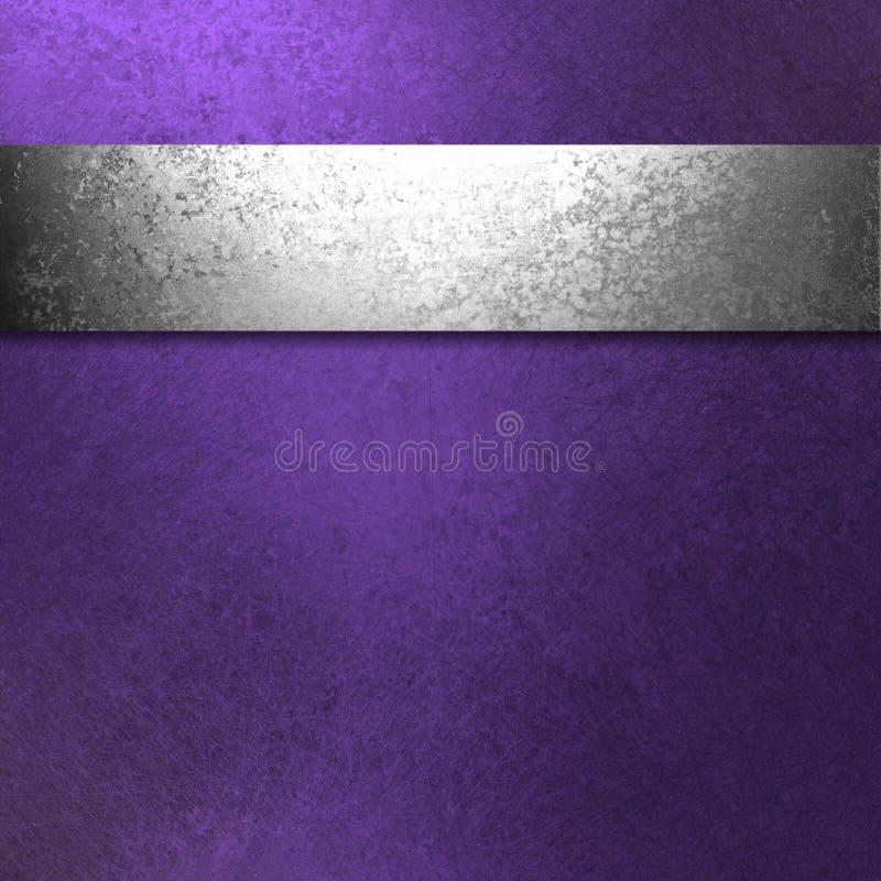 Purpere en zilveren achtergrond stock illustratie