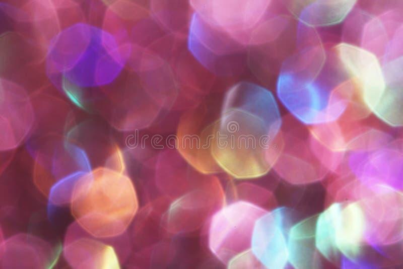 Purpere feestelijke Kerstmis elegante abstracte zachte lichten als achtergrond stock fotografie