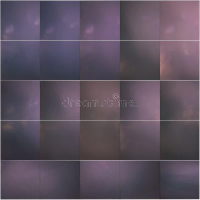 Purpere gestemde tegelvierkanten stock foto's