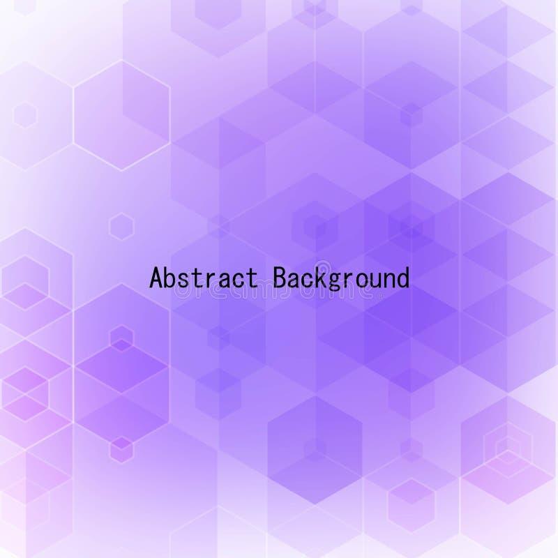 Purpere hexagon achtergrond Lay-out voor reclame Eps 10 vector illustratie