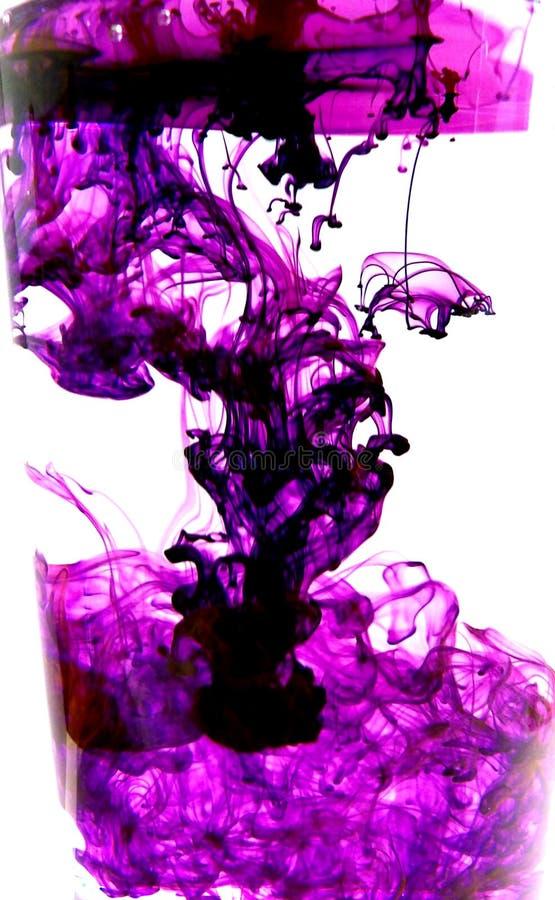 Purpere inkt stock afbeelding
