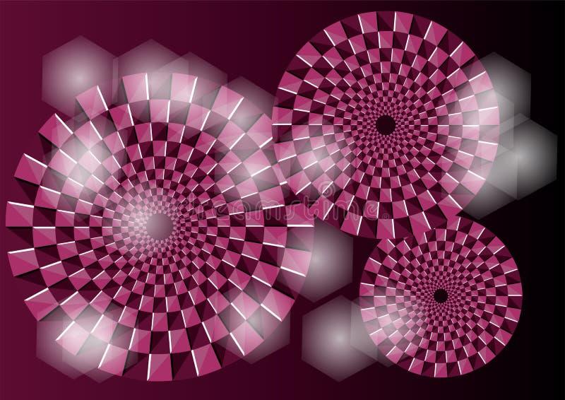 Purpere optische illusie royalty-vrije illustratie