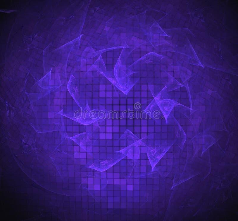 Purpere pixelfractal textuur Fantasiefractal textuur Digitaal art het 3d teruggeven Computer geproduceerd beeld stock illustratie