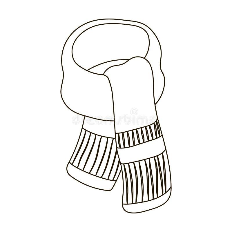 Purpere pluchesjaal voor vrouwen De sjaals en de sjaals kiezen pictogram in illustratie van de het symboolvoorraad van de overzic stock illustratie