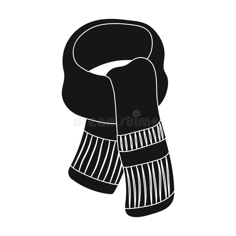 Purpere pluchesjaal voor vrouwen De sjaals en de sjaals kiezen pictogram in zwarte de voorraadillustratie van het stijl vectorsym stock illustratie
