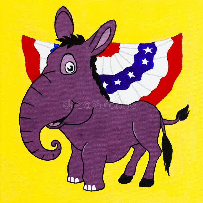 Purpere Politiek stock illustratie