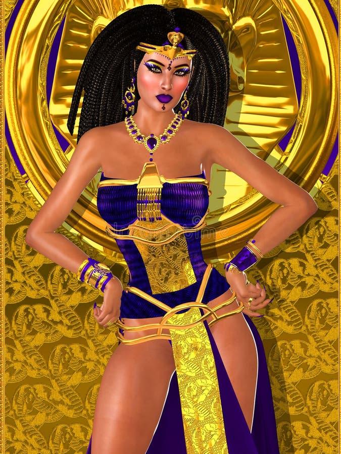 Purpere prinses van oud Egypte vector illustratie