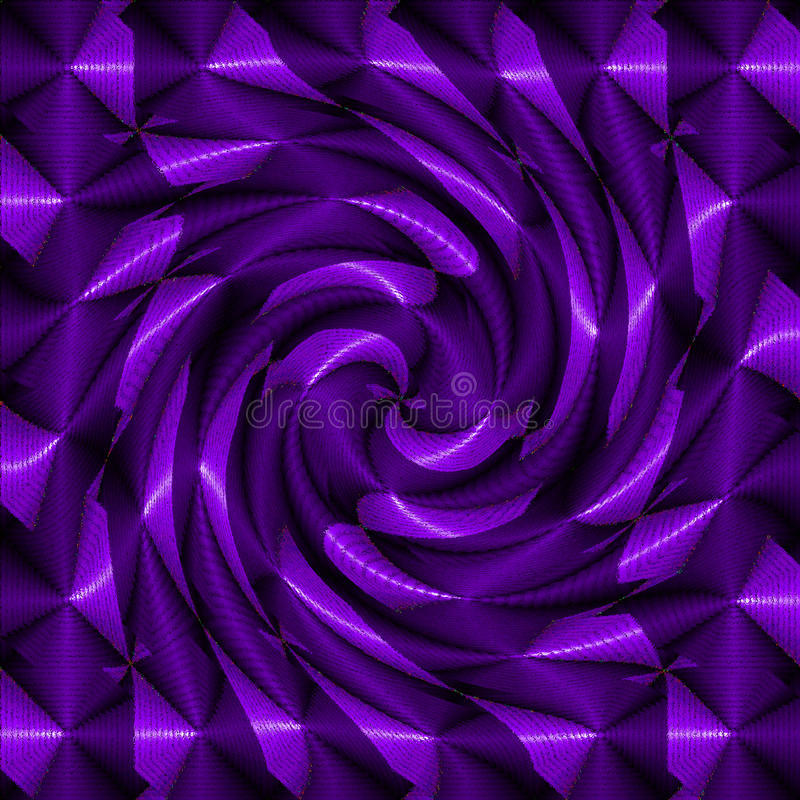 Purpere psychedelische spiraal stock foto