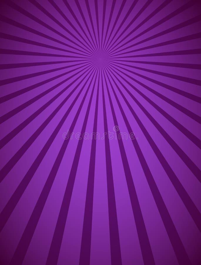 Purpere radiale stralen en stralen abstracte lijnenachtergrond vector illustratie
