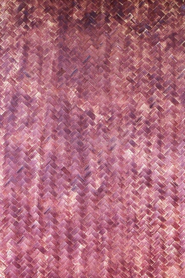 Purpere ruw van het bamboeweefsel stock foto's