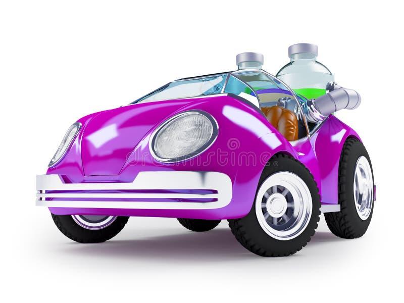 Purpere sodaauto vector illustratie