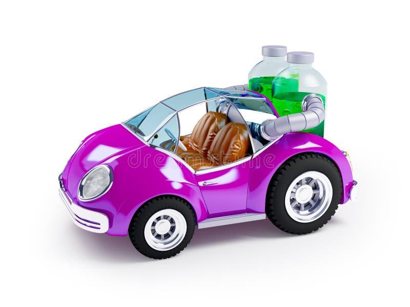 Purpere sodaauto stock illustratie