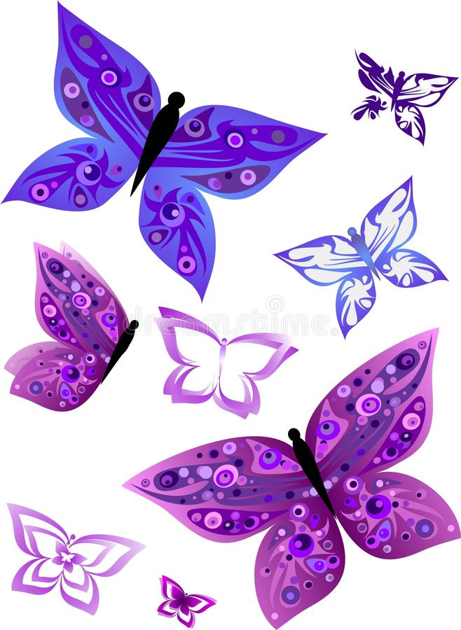 Purpere Vlinder stock illustratie