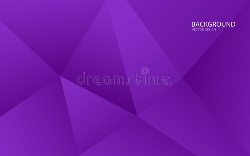 Purple abstract background vector illustration. wall. web banner. cover. card. texture. wallpaper. flyer. brochure. annual report. Polgyonal vector concept royalty free illustration